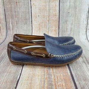NEW! Allen Edmonds Blue Leather Loafer Size 9